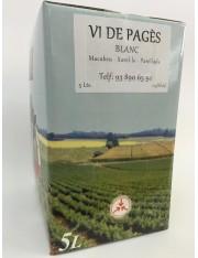 Vino Blanco de Pages en Box de 5L
